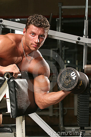 Biceps, preacher one arm curls