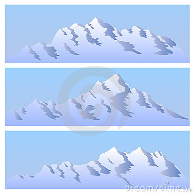 The bichromatic simple image of mountains.