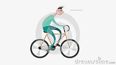 bicicleta da estrada de ciclismo do homem dos desenhos animados