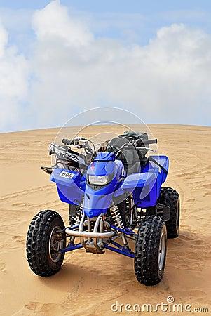 Bicicleta do pelotão no deserto