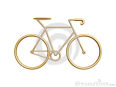 Bicicleta dourada