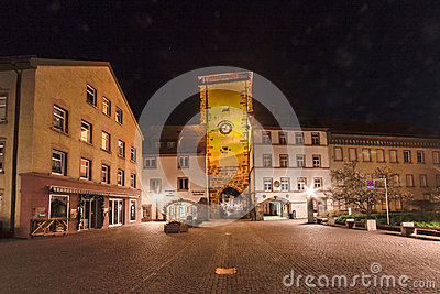 Bickentor Clock Tower Villingen-Schwenningen Germa Editorial Photography