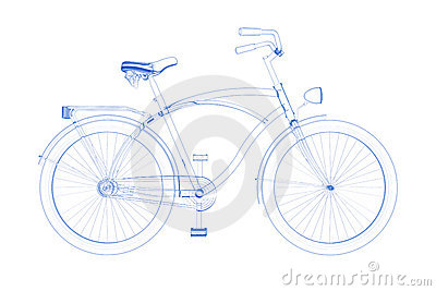 Bicycle (3D xray blueon white)