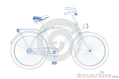 Bicycle (3D xray blueon white)
