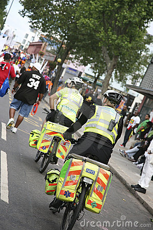 Bicycle Ambulance Aiders at Notthing Hill Carnival Editorial Photography