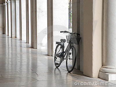 Bicycle in arcade