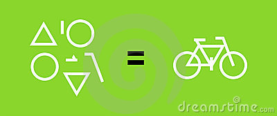 Bicycle as a result of geometric shapes