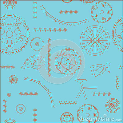 Bicycle background seamless