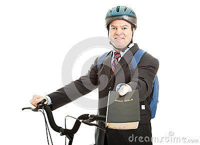 Bicycle Bible Salesman