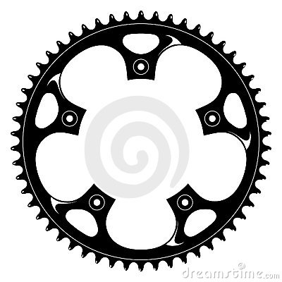 Free Bicycle Black Crank - Vector Drawing Royalty Free Stock Image - 1387266