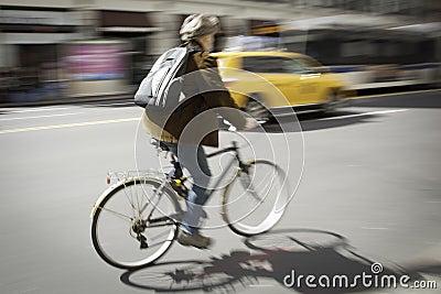 Bicycle Blur New York City