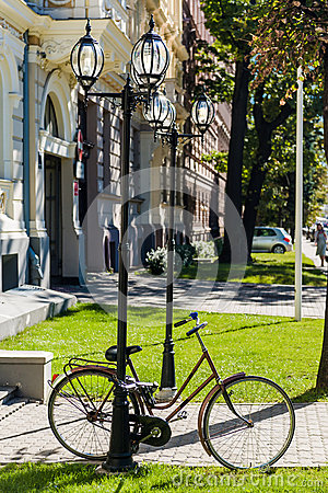 Bicycle in the centre of Riga