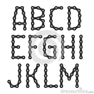 Free Bicycle Chain Alphabet Stock Image - 31341201