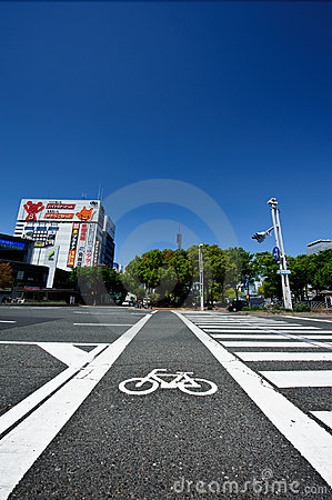 Bicycle crossing path Editorial Photography