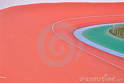 Bicycle curved racetrack