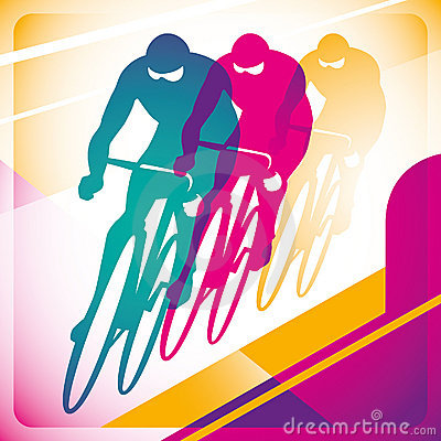 Bicycle driving background.