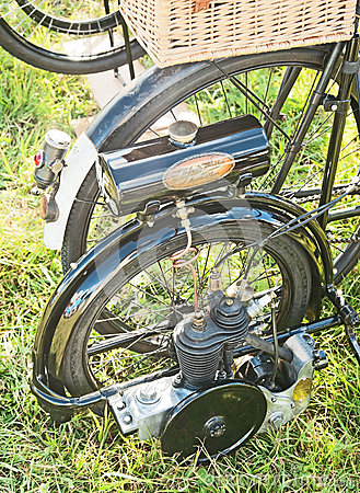 Bicycle with engine Editorial Photo