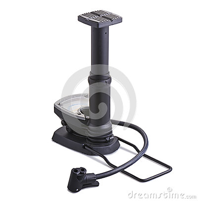 Bicycle floor pump