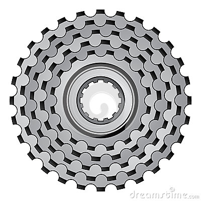 Bicycle gear cogwheel sprocket icon