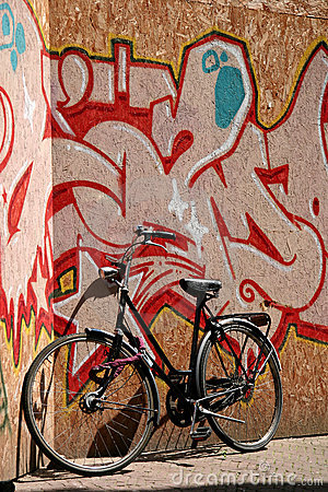 Bicycle And Graffiti