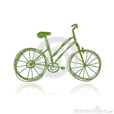 Bicycle green sketch for your design