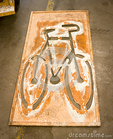 Bicycle Lane Paint Stencil