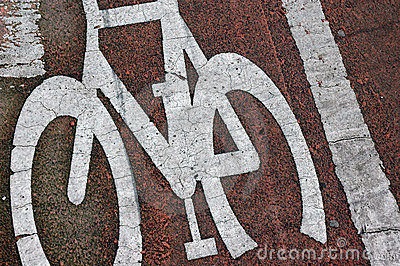 Bicycle lane road markings