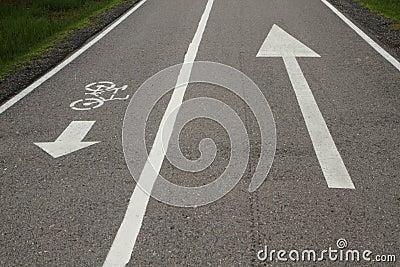 Bicycle lane and walkway