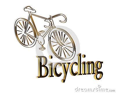 Bicycle Logo Gold Black