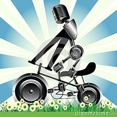 Bicycle loudspeaker wheels