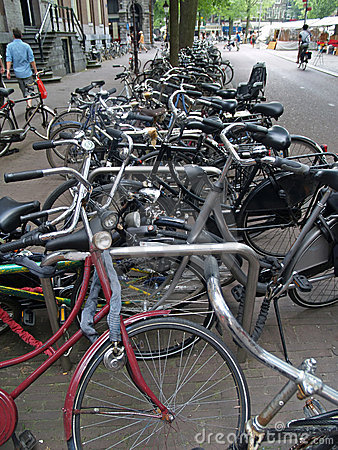Bicycle mess in Amsterdam