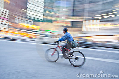 Bicycle in motion blur