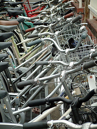Free Bicycle Parking Lot. Royalty Free Stock Image - 54046