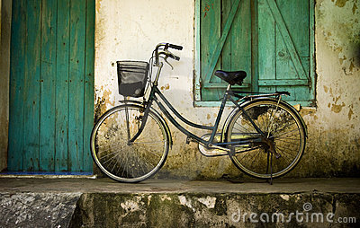 Bicycle on a Porch in Southeast Asia