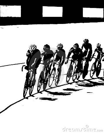 Bicycle Race B&W