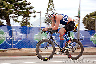 Bicycle race competitor Editorial Stock Photo