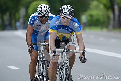 Bicycle Race Horizon Park 2013 in Kiev Editorial Photography