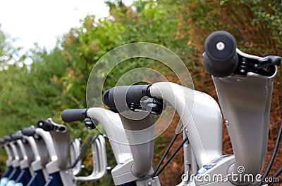 Bicycle rack in London