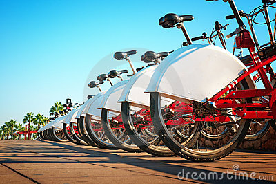 Bicycle rental in Barcelona, Spain