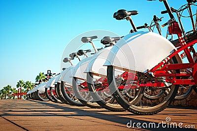 Bicycle rental in Barcelona, Spain