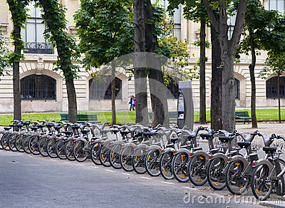 Bicycle renting Editorial Stock Photo