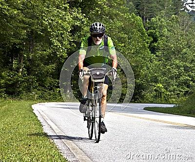 Bicycle Ride Across Georgia Editorial Stock Image