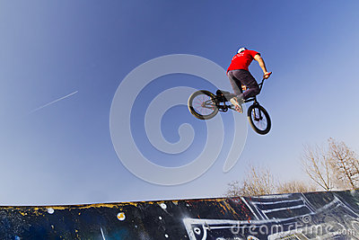 Young bmx bicycle rider Editorial Photo