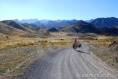Bicycle Rider in New Zealand