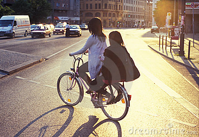 Bicycle riding in Berlin Editorial Photography