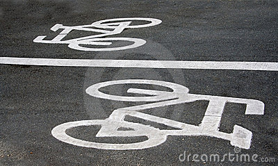 Bicycle road signs