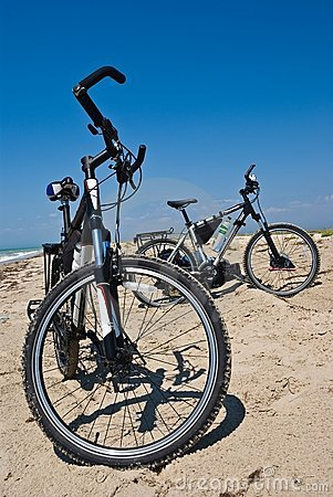 Bicycle on a sand