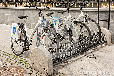 Bicycle Sharing System Editorial Photo