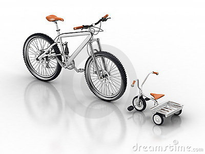 Bicycle and sports bike