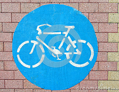 Bicycle symbol on the ground